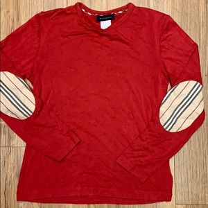 Authentic Burberry long sleeve girls top red 4T